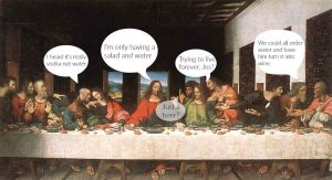 "Last supper, Joshua tries to order a salad and people start bit...""commenting"""